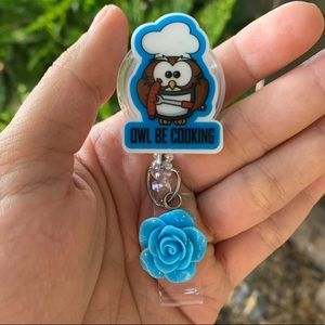 Owl Be Cooking Badge Holder